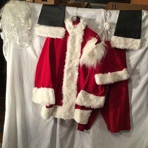 AMAZING Santa Suit!!! Velvet, fur, beard, hair,etc